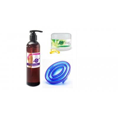Trio Beauty Oil 120ml, Brosse scorpion et Les Essentiels Minceur